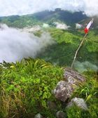 Saint Lucia from Petit Piton — Stockfoto
