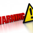 Warning sign — Stock Photo #3953554
