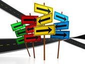 Road choice — Stock Photo