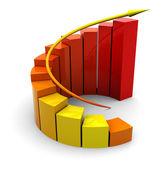 Raising graph — Stock Photo