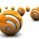 símbolos de RSS — Foto de Stock