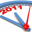 Stock Photo: 2011 year at clock