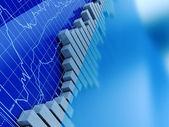 Aktienhandel-Graphen — Stockfoto