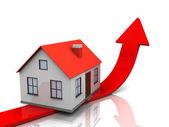 House price graph — Stock Photo