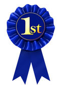 First place ribbon — Stock Photo