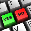 Yes and no buttons — Stock Photo