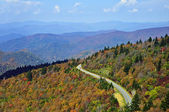 Road Through the Smoky Mountains in Autumn — Stock Photo