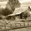 Old Barn Sepia Tint - Stock Photo