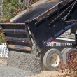 Large Truck Dumping Gravel — Stock Photo #4337602