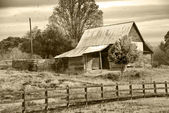 Old Barn Sepia Tint — Stock Photo