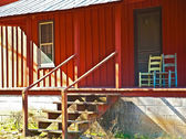 Front Porch of Old Red House — Stock Photo