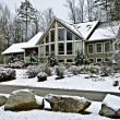 Stock Photo: Large House in Winter
