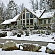 Large House in Winter — Stock Photo