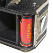 Stock Photo: Exposed Film in Antique Camera