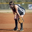 Stock Photo: Young Girl Softball Player