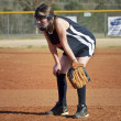 Young Girl Softball Player — Stock Photo