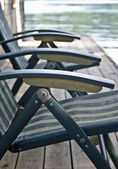 Chairs on a Dock — Stock Photo