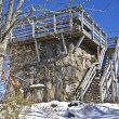 Old Stone Lookout Tower in Winter — Stock Photo