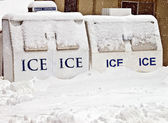 Ice Machines Covered with Snow — Stock Photo