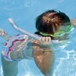 Stock Photo: Young Girl Snorkling