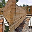 Lumber at New Construction — Stock Photo