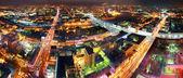 Night city panorama — Stock Photo