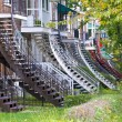 Stock Photo: Montreal stairs