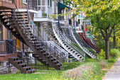 Montreal stairs — Stock Photo