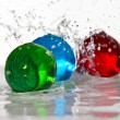 Spheres&water — Stock Photo