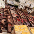 Tannery in Fez, Morocco — Stock Photo