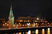 The Kremlin at night, Moscow — Stockfoto