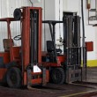 Two forklifts in warehouse — Stock Photo #4052919
