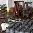Stock Photo: Two forklifts
