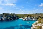 View of Macarelleta beach in Menorca, Balearic Islands, Spain — Stock Photo