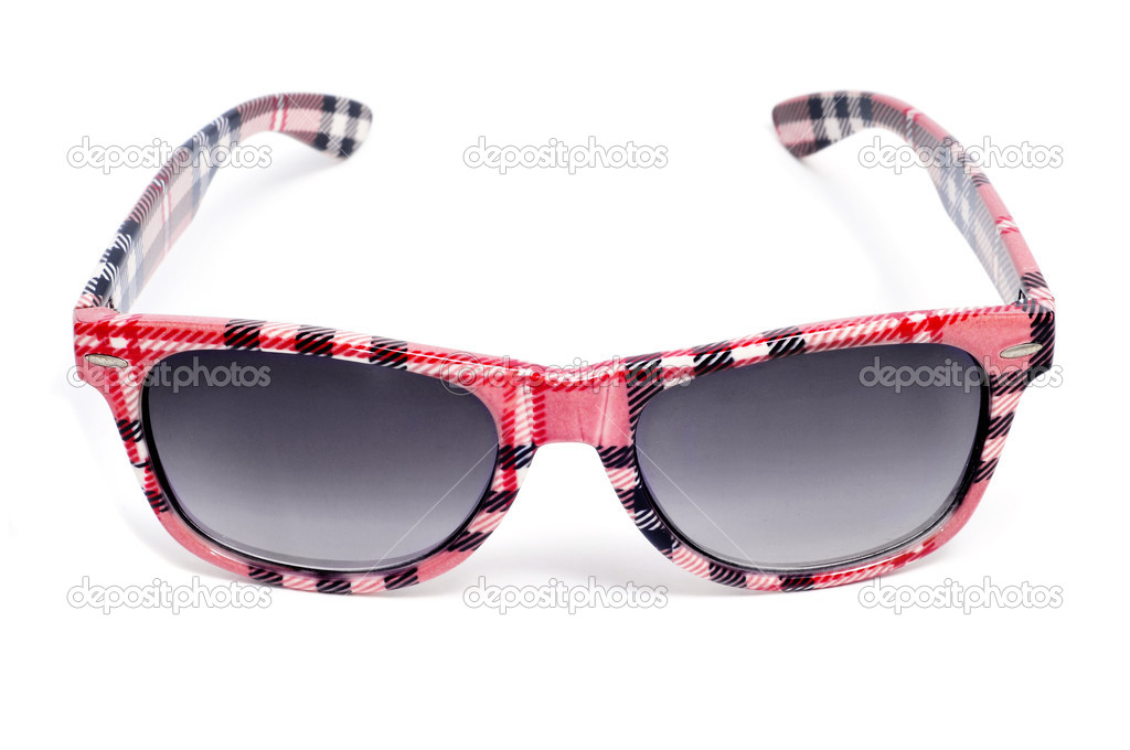 Plaid sunglasses isolated on a white background — Stock Photo #3929115