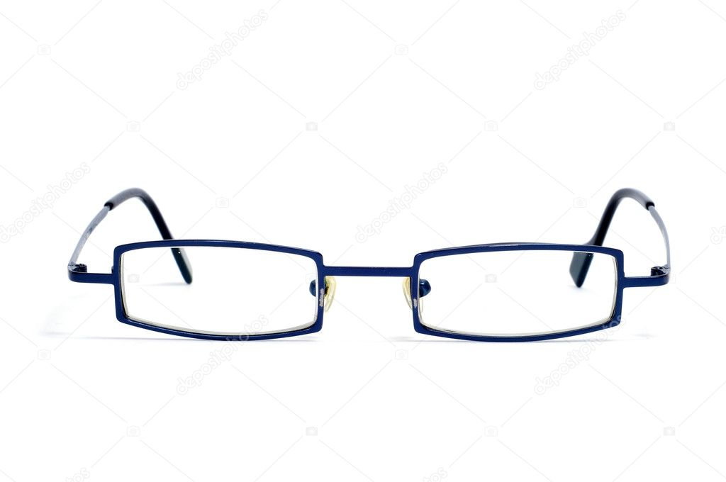 Metal-rimmed glasses isolated on a white background — Stock Photo #3929118