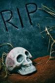 Halloween grave — Stock Photo