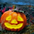 Stock Photo: Halloween jack-o'-lantern