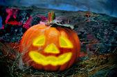 Halloween jack-o'-lantern — Stock Photo