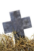 Halloween grave — Stock Photo