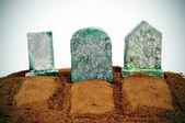 Halloween graves — Stock Photo