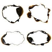 被烧的孔 — 图库照片