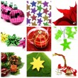 Stock Photo: Christmas items collage