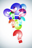 Question marks background — Foto Stock