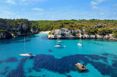 View of Macarelleta beach in Menorca, Balearic Islands, Spain — Stock Photo