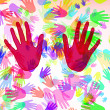 Stock Photo: Hands of different colors