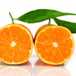 Closeup of some tangerines — Stock Photo