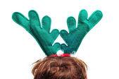 Santa reindeer horns — Stock Photo