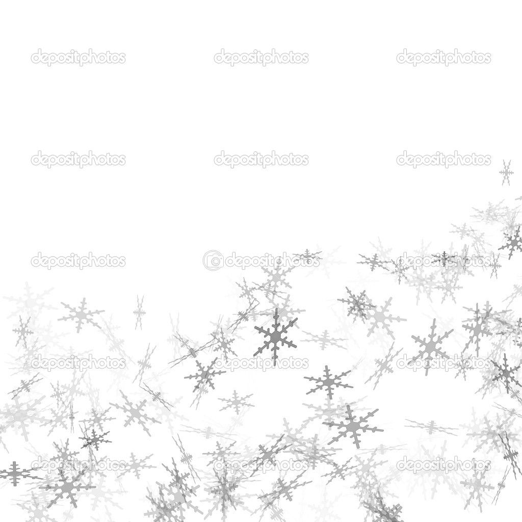 Grey snowflakes drawn on a white background  Stock Photo #4285862