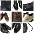 Stock Photo: Men shoes collage